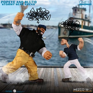 竟然綁著卜派一起賣啊! MEZCO ONE:12 COLLECTIVE 系列【卜派&布魯托 豪華雙人包】Popeye & Bluto: Stormy Seas Ahead Deluxe Box Set 1/12 比例人偶