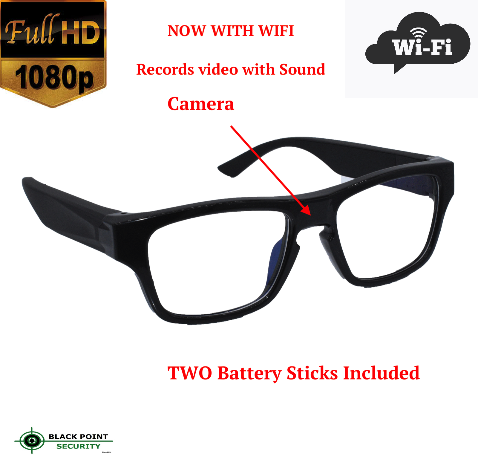 Live Streaming Wifi Hidden Full Hd 1080p Camera Glasses With Audio