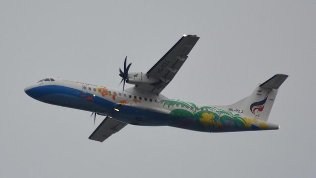 ATR.72-212A c/n 1392 Bangkok Airways registration HS-PZJ