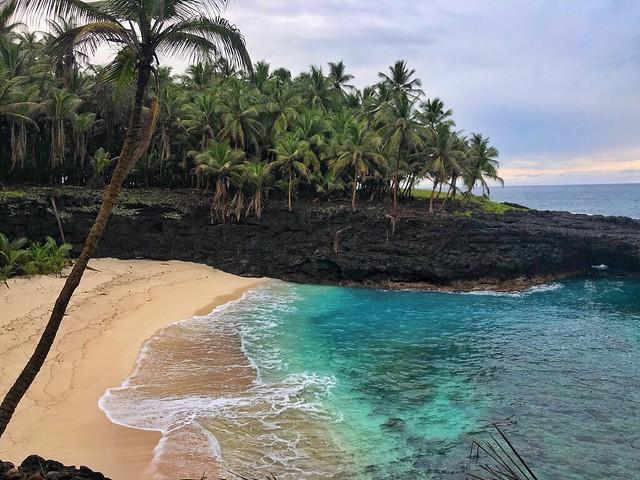 Playa del islote de Rolas (Santo Tomé y Príncipe)
