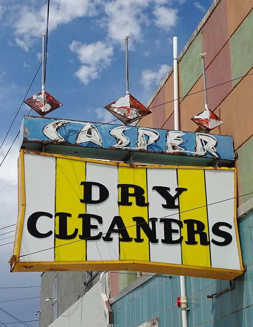 WY, Casper-Casper Dry Cleaners Sign