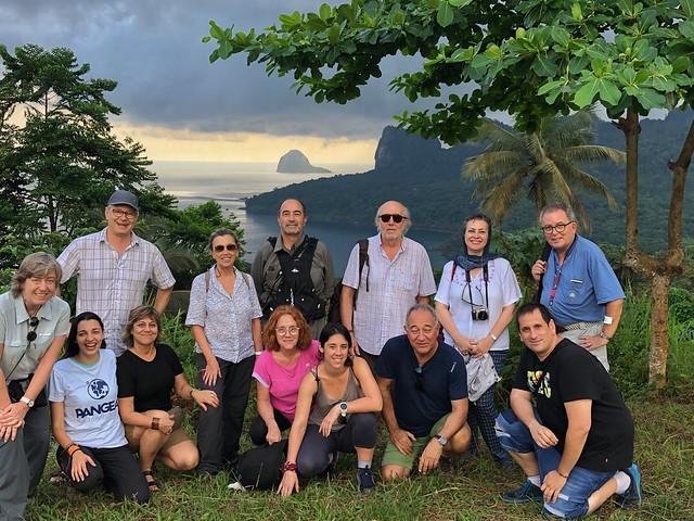 Integrantes de la tercera expedición a Santo Tomé y Príncipe