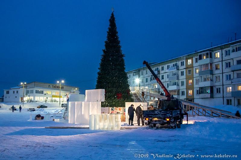 Ледовый городок 2019. Начало *6990