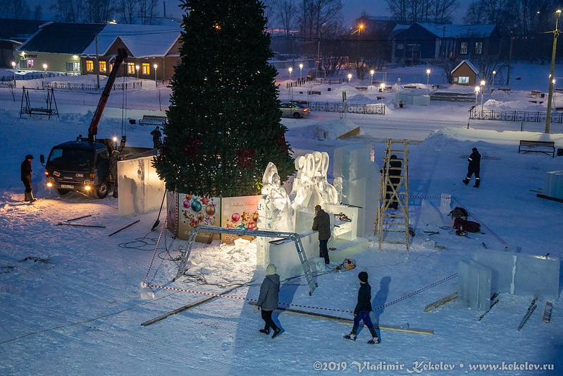 Ледовый городок 2019. Начало *6991