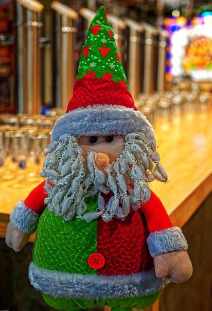 Father Christmas Figure ( Cervezas de la Colon  - Mercado de Colon) Valencia (Panasonic DC1 & Sigma 45mm f2.8 Prime)