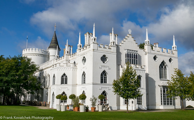 Outside the Strawberry Hill House