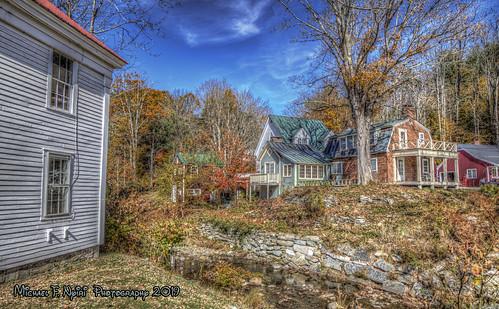 graftonvt vermont rural stream fallcolors leaves architecture