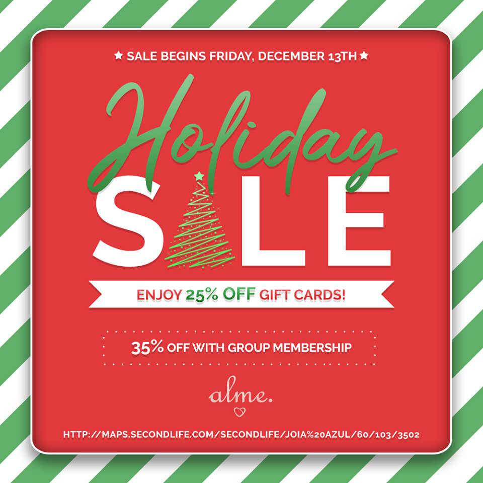 Alme. Giftcards Holiday Sale!! 🎄🎁