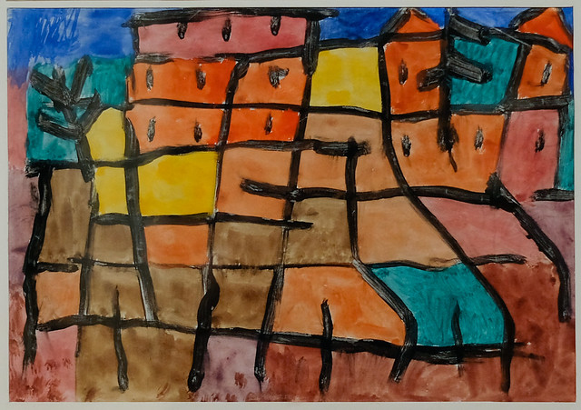Paul Klee, Ohne Titel (Untitled), 1940, Watercolor and paste on paper 5/6/19 #sfmoma #artmuseum #sanfrancisco