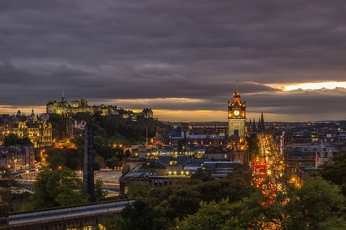 Edinburgh at dusk. From How to Save Money and Time: Expert Shares Top Travel Planning Tips