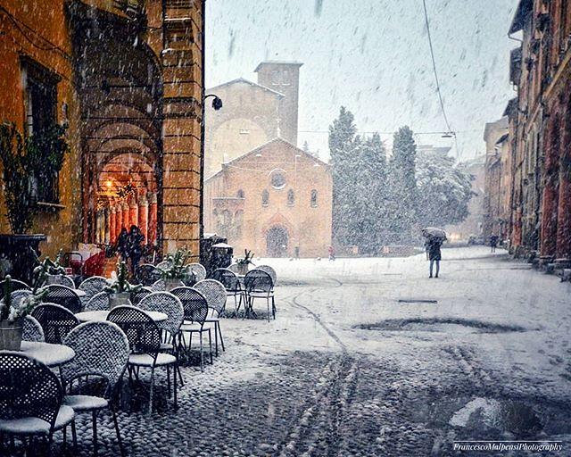 Sempre uno spettacolo la #neve a #Bologna !! #natale #nataleabologna