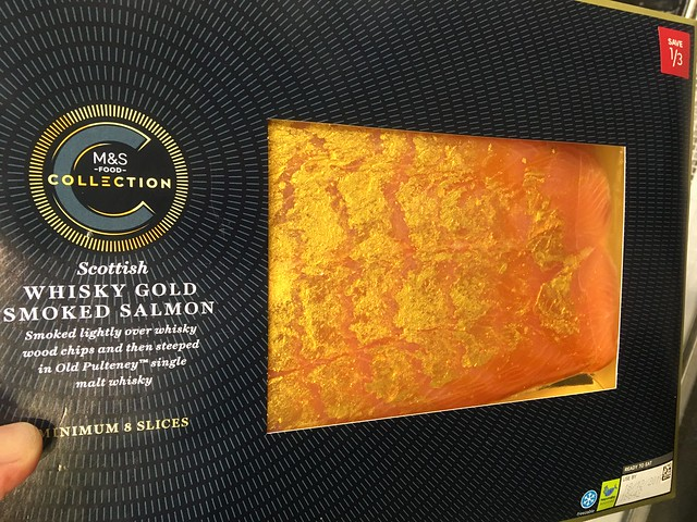 M&S Whisky gold smoked Scottish salmon, promotion £10