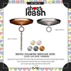 .:Short Leash:. Bound Pleasure Bondage Ring