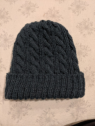 Linda's finished Jason's Cashmere Hat by Melissa Thomson