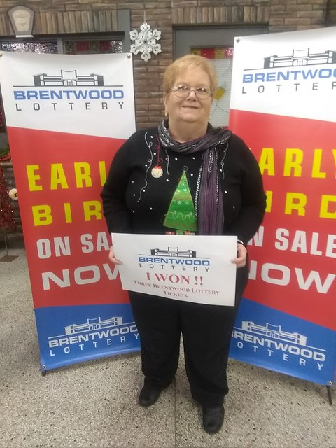 Cecilia (Sis) Mulligan Cari May won a 3 pack of Brentwood Lottery XXVIII tickets in the Early Bird draw.