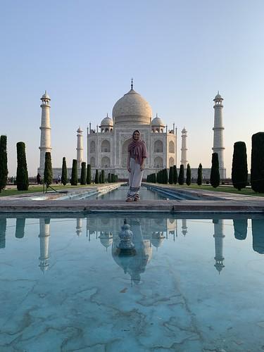 The Taj Mahal at Agra India by Rachel Rich