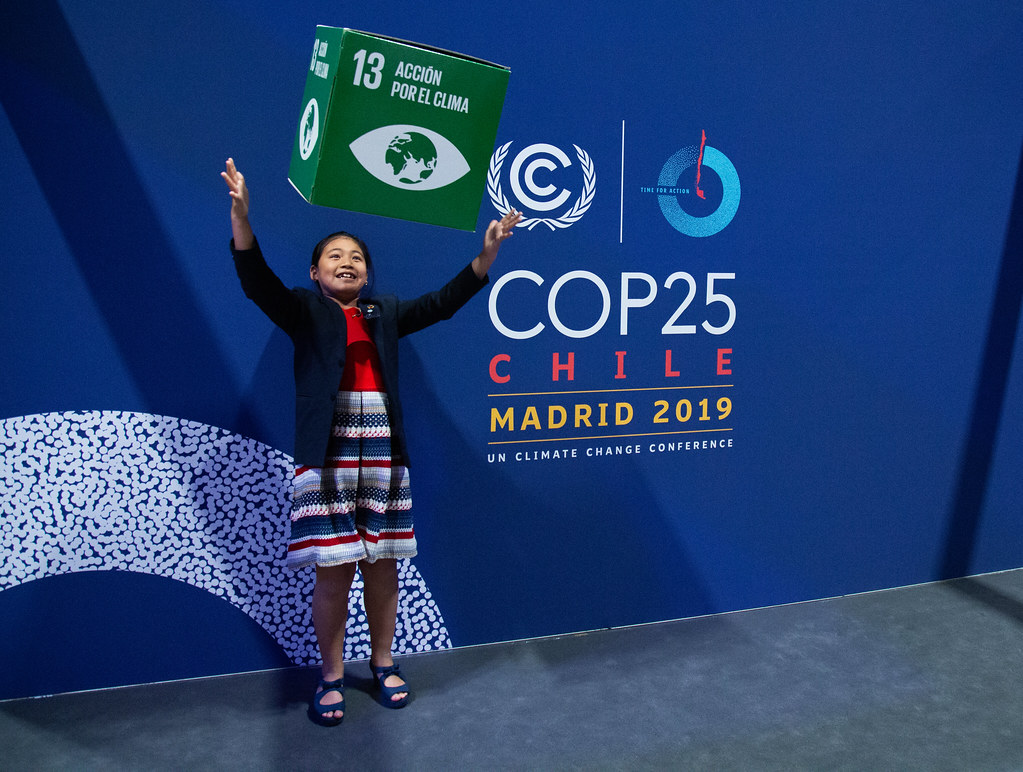 India's eight-year-old climate activist Licypriya Kangujam, at the COP25