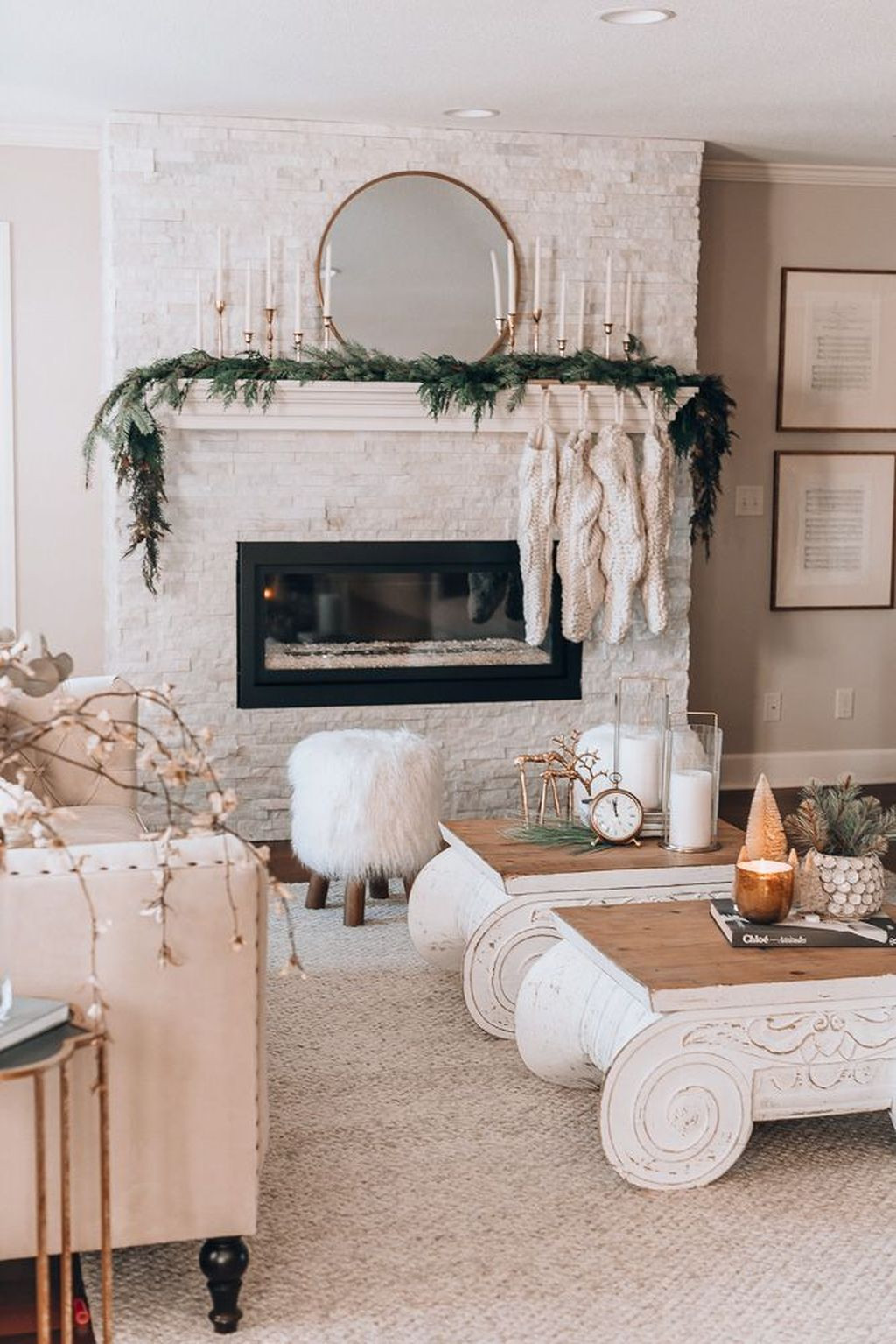 Cozy Christmas Holiday Decor Tree Garland Mantle