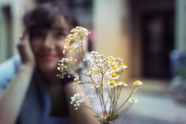 Tender flowers. And a tender moment full of happiness.