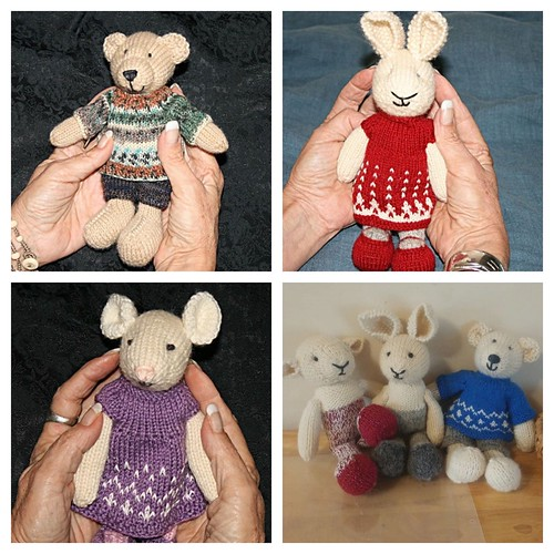 Love all of Jeannie's growing knit Little Cotton Rabbits menagerie!