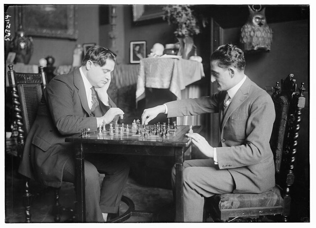 [Men playing chess] (LOC)
