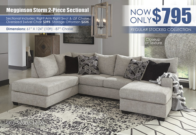 Megginson Storm 2-PC Sectional_LSF Chaise_96006-16-03