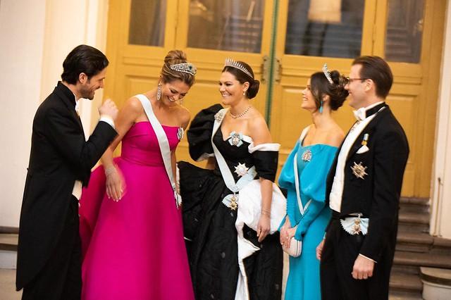 Zweedse Koninklijke familie bij uitreiking Nobelprijzen (2019)