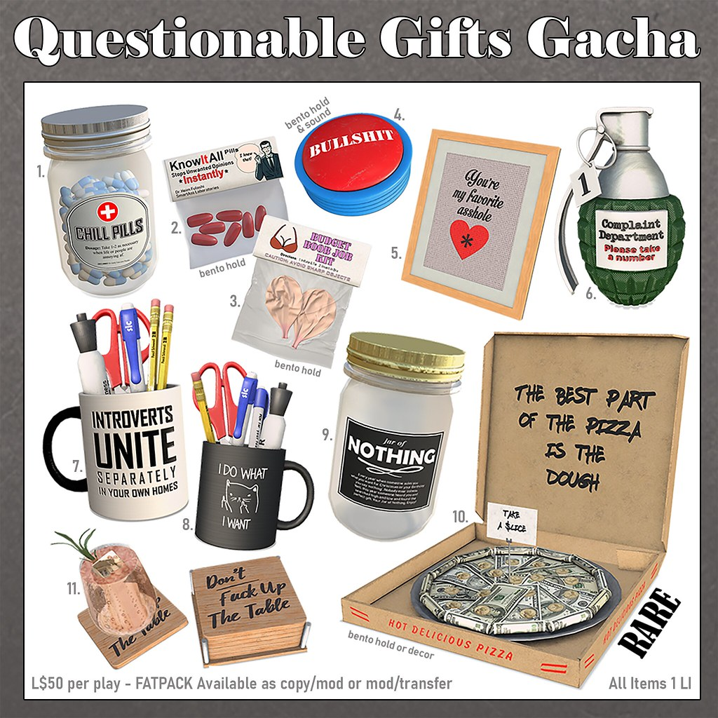 (Luc.) –  Questionable Gifts Gacha @ equal10