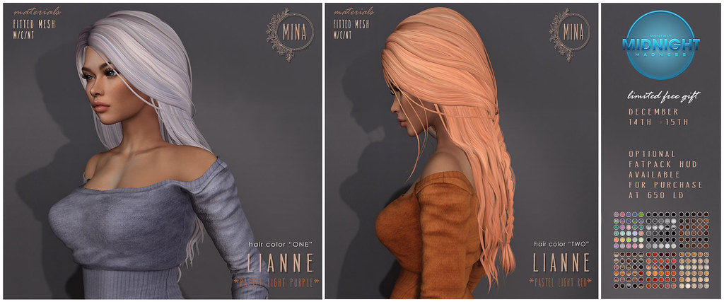 MINA Hair: Lianne for Monthly Midnight Madness (MMM)