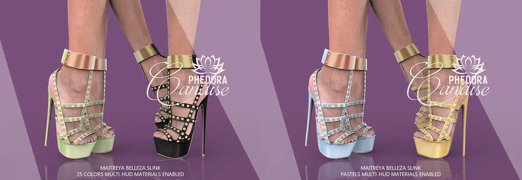 "Phedora  for Fetish Fair powered by WeDo SL Events ~ ""Candise"" heels ♥"