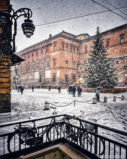 #bologna vestita di Bianco #neve #natale #nataleabologna