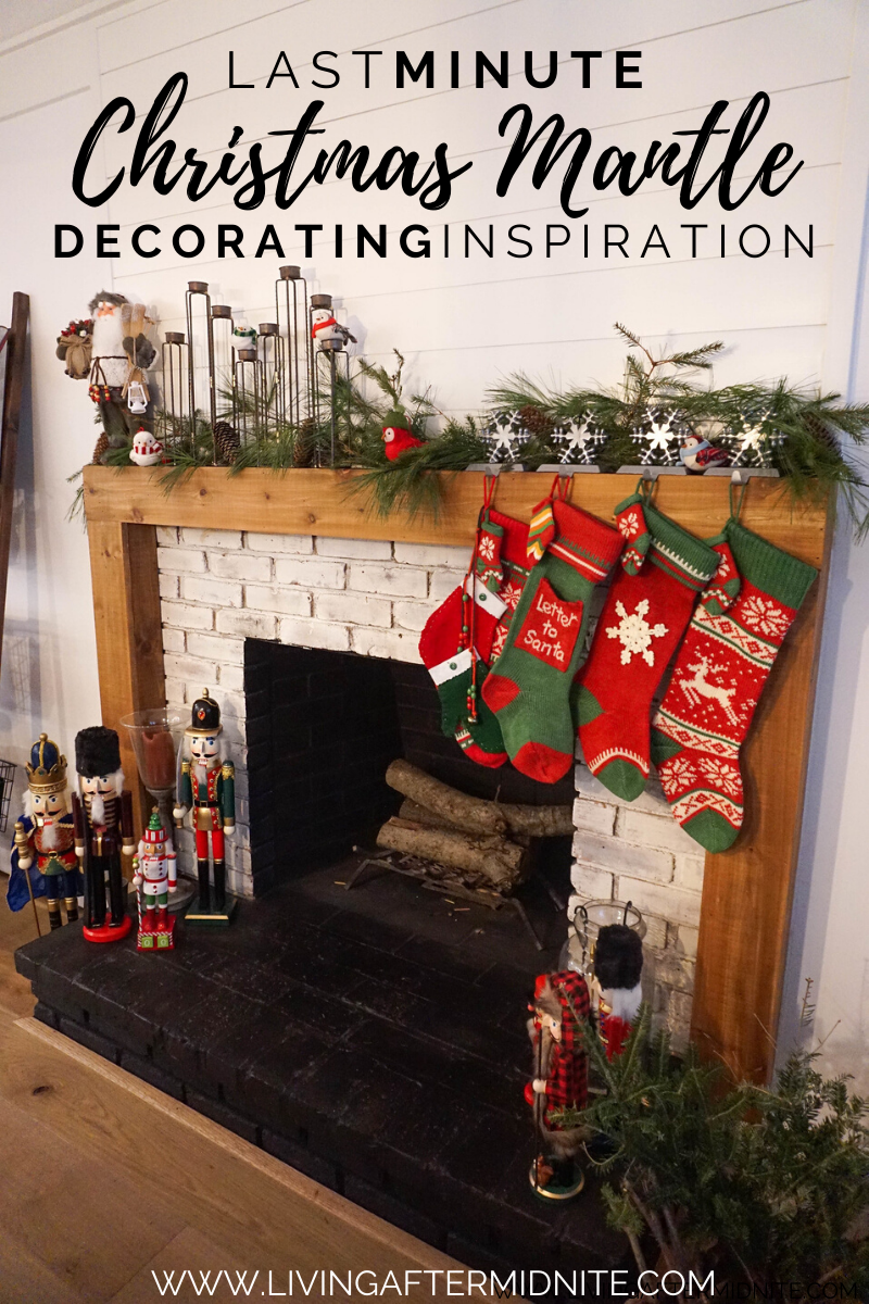 The Chicest Last Minute Christmas Mantle Decorating Inspiration