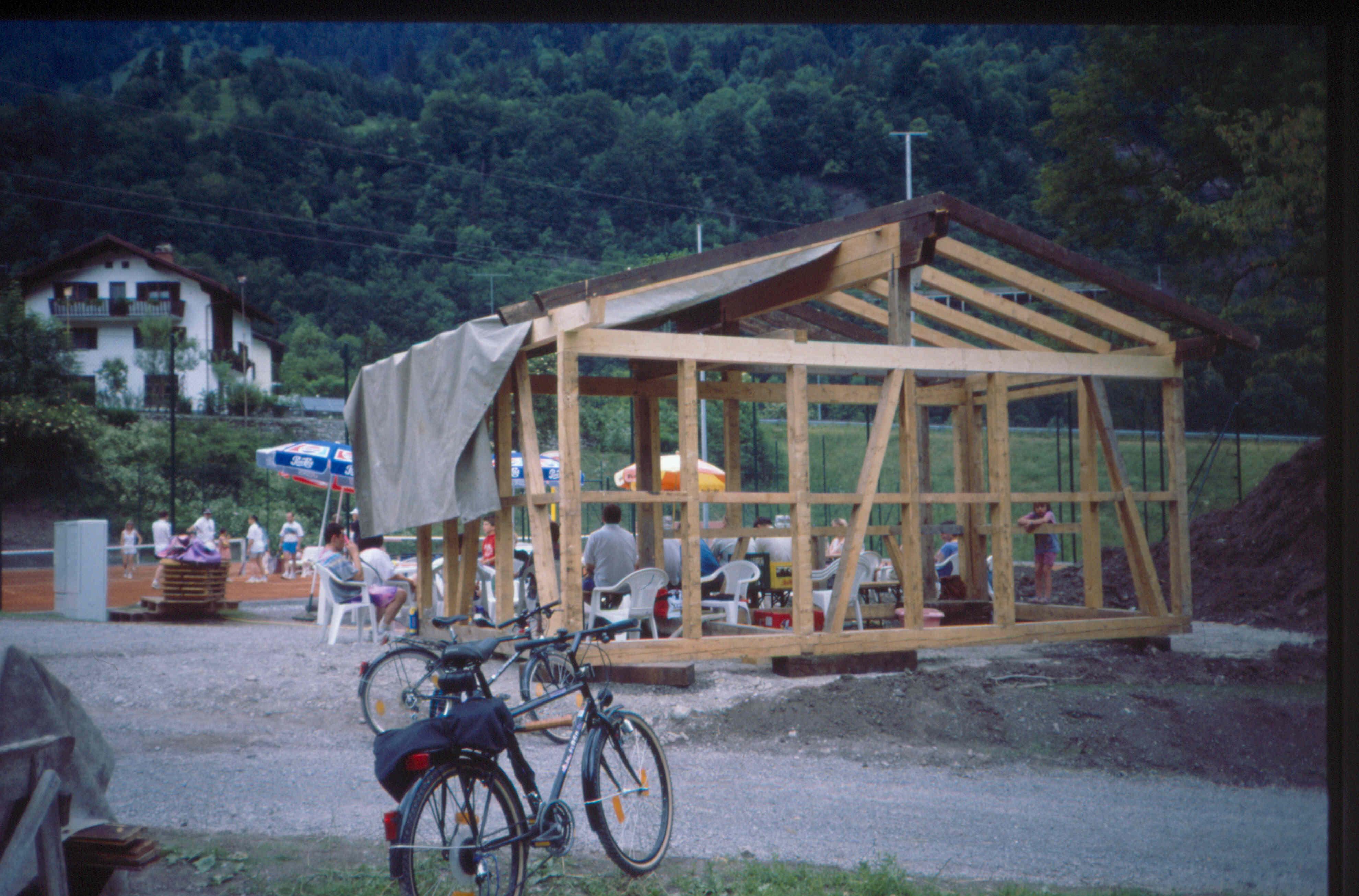 Bau der Plätze 1994