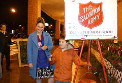 "Rep. Cummings Joins Red Kettle Bell Brigade for the Holidays  State Representative Stephanie Cummings continued her holiday tradition of volunteerism and once again rang the bell to raise money for the Salvation Army outside the Reidville Drive Stop & Shop earlier this week.   Rep. Cummings and her Republican colleagues volunteer to help raise money during the annual appeal and have raised more than $200,000 in recent years.  Proceeds are donated directly to The Salvation Army. This holiday season Rep. Cummings is also hosting both a ""Holiday Giving Trees"" clothing and toy drive, and a coat, hat and glove drive for needy Waterbury families. If you were unable to stop by during our time ringing the bell but wish to donate to the Salvation Army text CTREP to 71777 to donate on your mobile phone!  The Salvation Army responds to natural disasters such as wildfires and tornadoes, provides meals and toys to families in need, and conducts research and analyses regarding human needs around the country. They also provide adult rehabilitation, veteran services, elderly services, missing person searches, housing assistance, youth recreation, sponsorship, and support in the fight to end human trafficking."