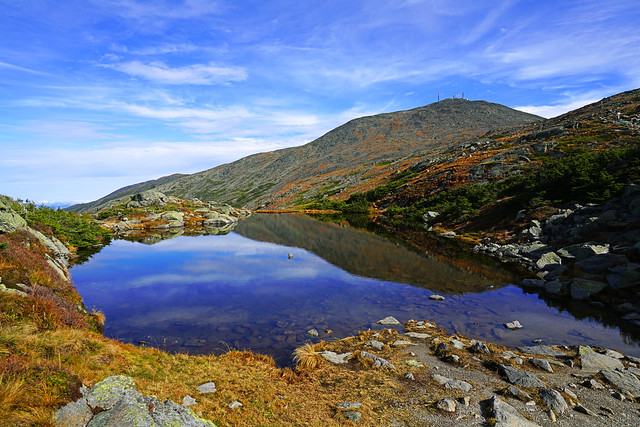 Amazing reflections in the Lakes of the Clouds, Mt Washington, New Hampshire