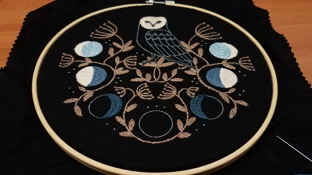 Progress on Jenny Blair Owl Kit