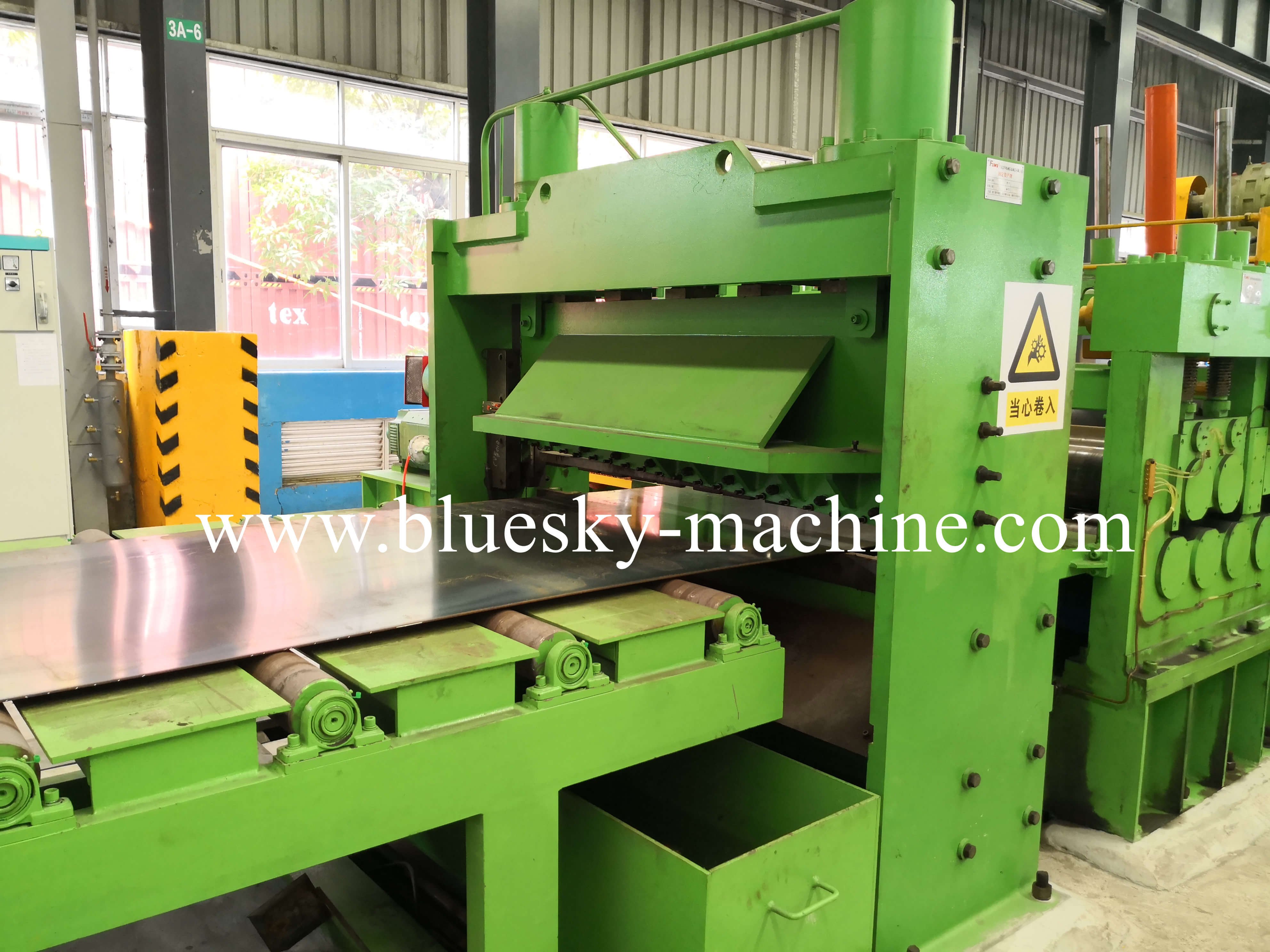 coil slitting and rewinding machine shearer