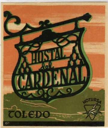 Publicidad del Hostal del Cardenal, años 50
