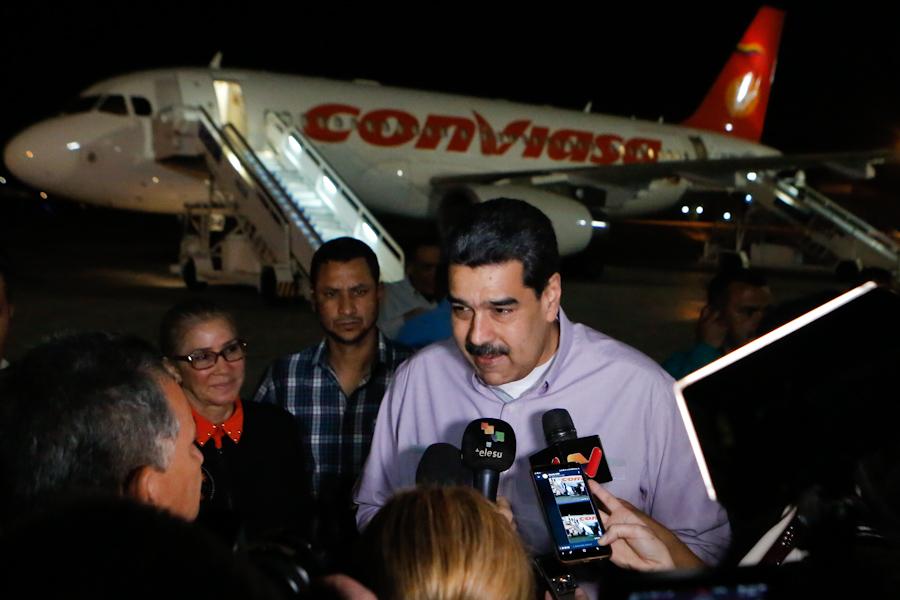 13/12/2019 Presidente Maduro arriba a La Habana para participar en XVII Cumbre de l
