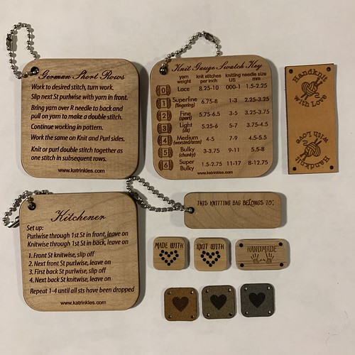 Assorted tags, labels and tools for makers!