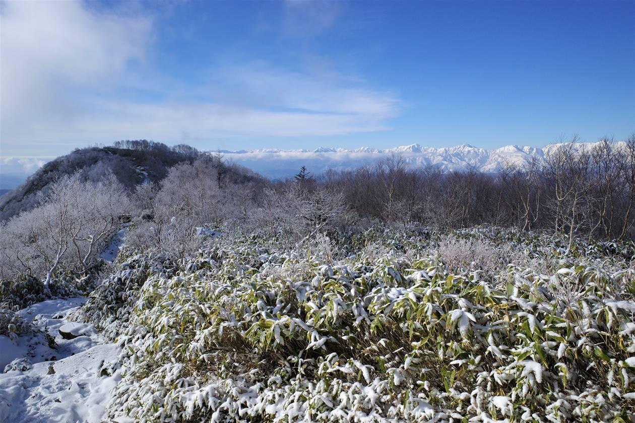 飯縄山と北アルプス