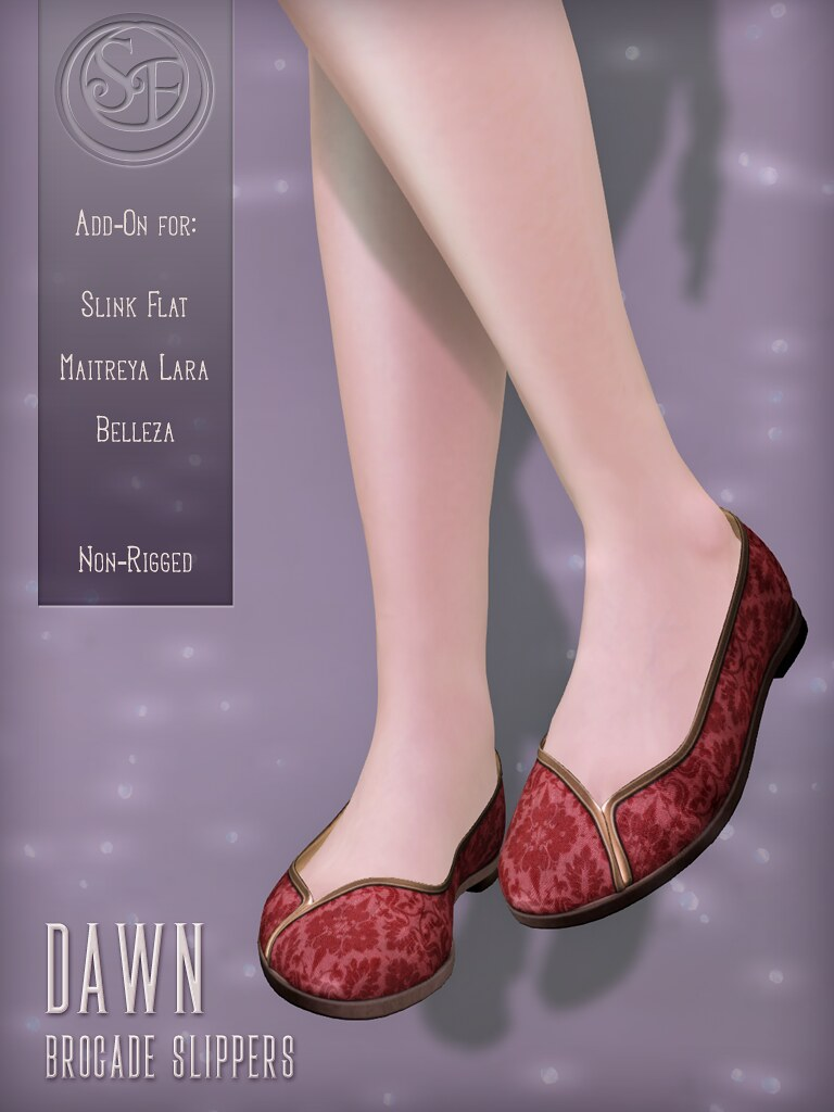 Senzafine . Dawn Brocade Slippers Poster