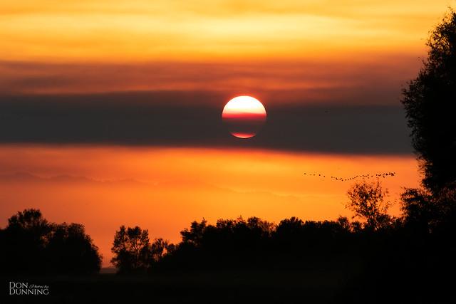 A Smokey Sunset