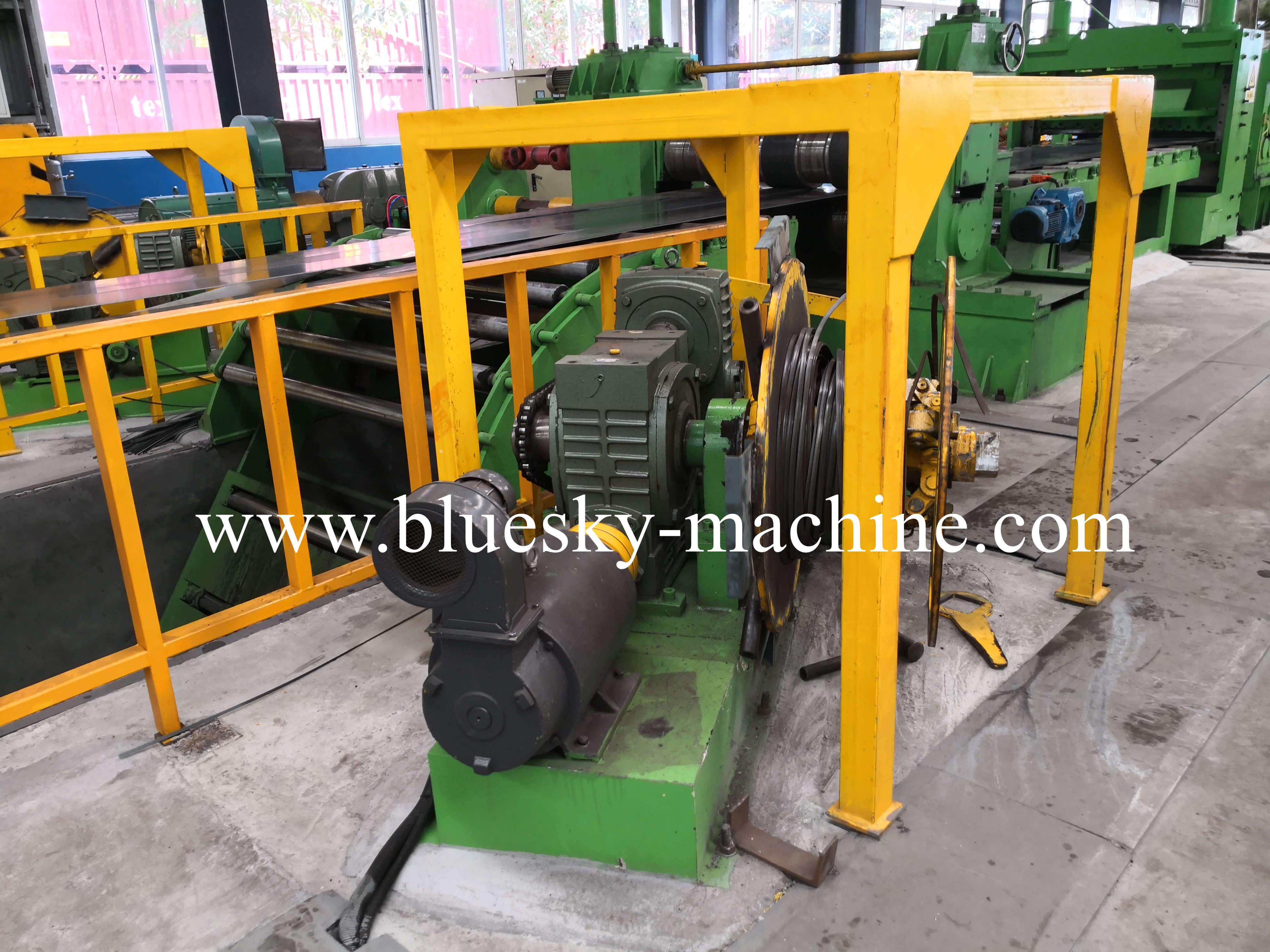 coil slitting and rewinding machine scrap recoiler