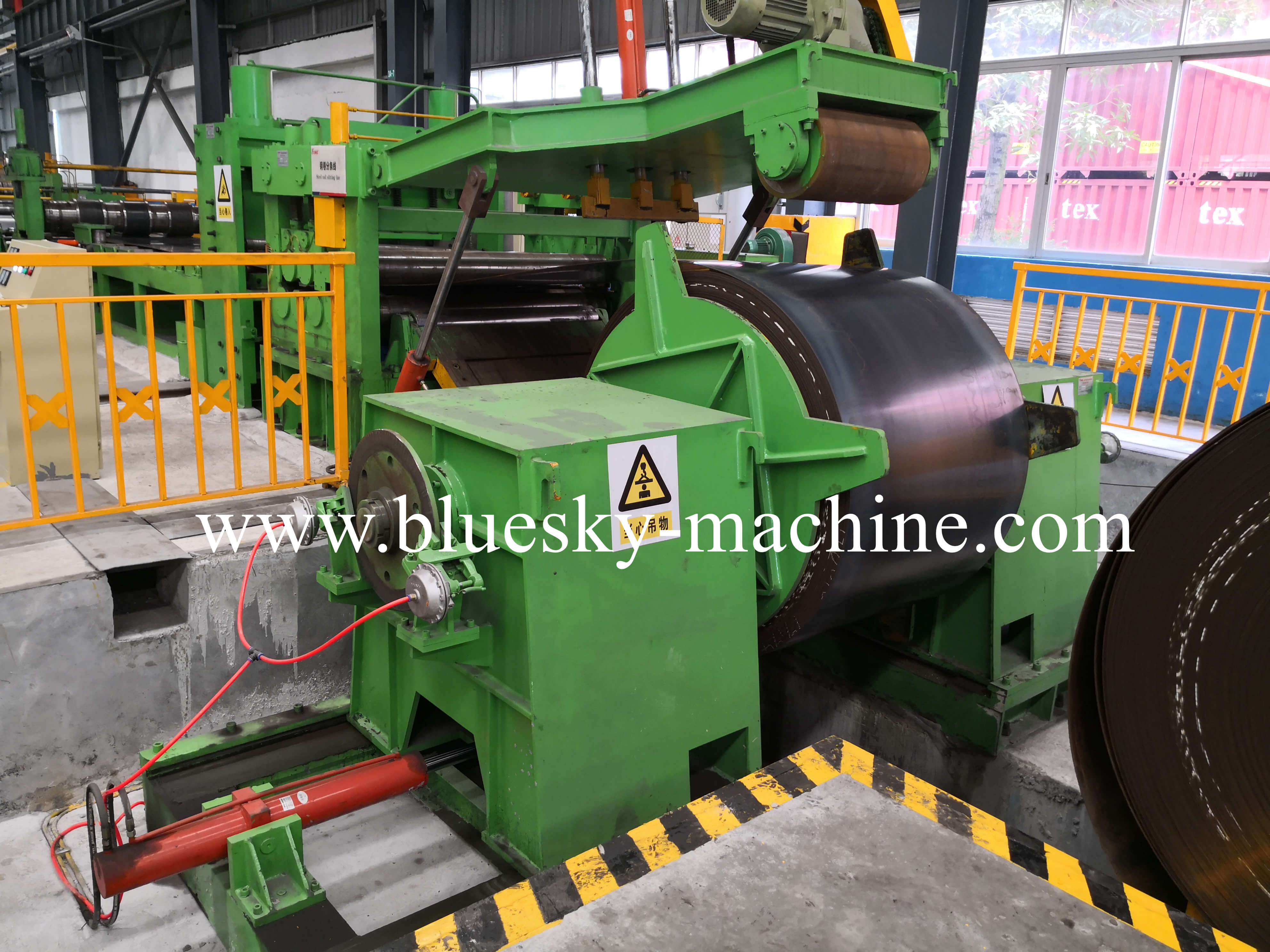 coil slitting and rewinding machine hydraulic uncoiler