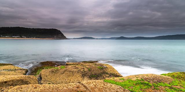 Overcast Sunrise Seascape Panorama