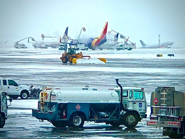 After the Snowstorm:  De-Icing Aircraft and Take-Offs Without Delay Afterward