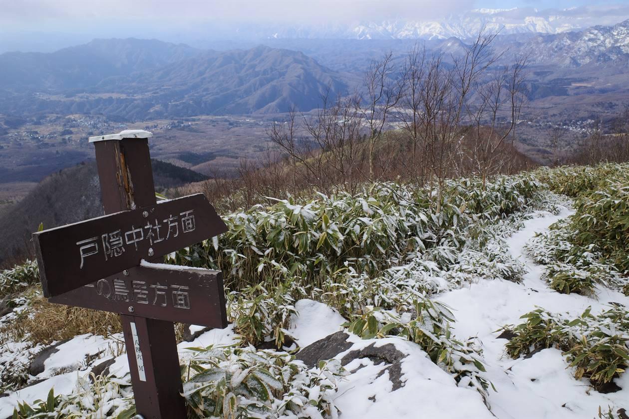 飯縄山 西登山道で下山