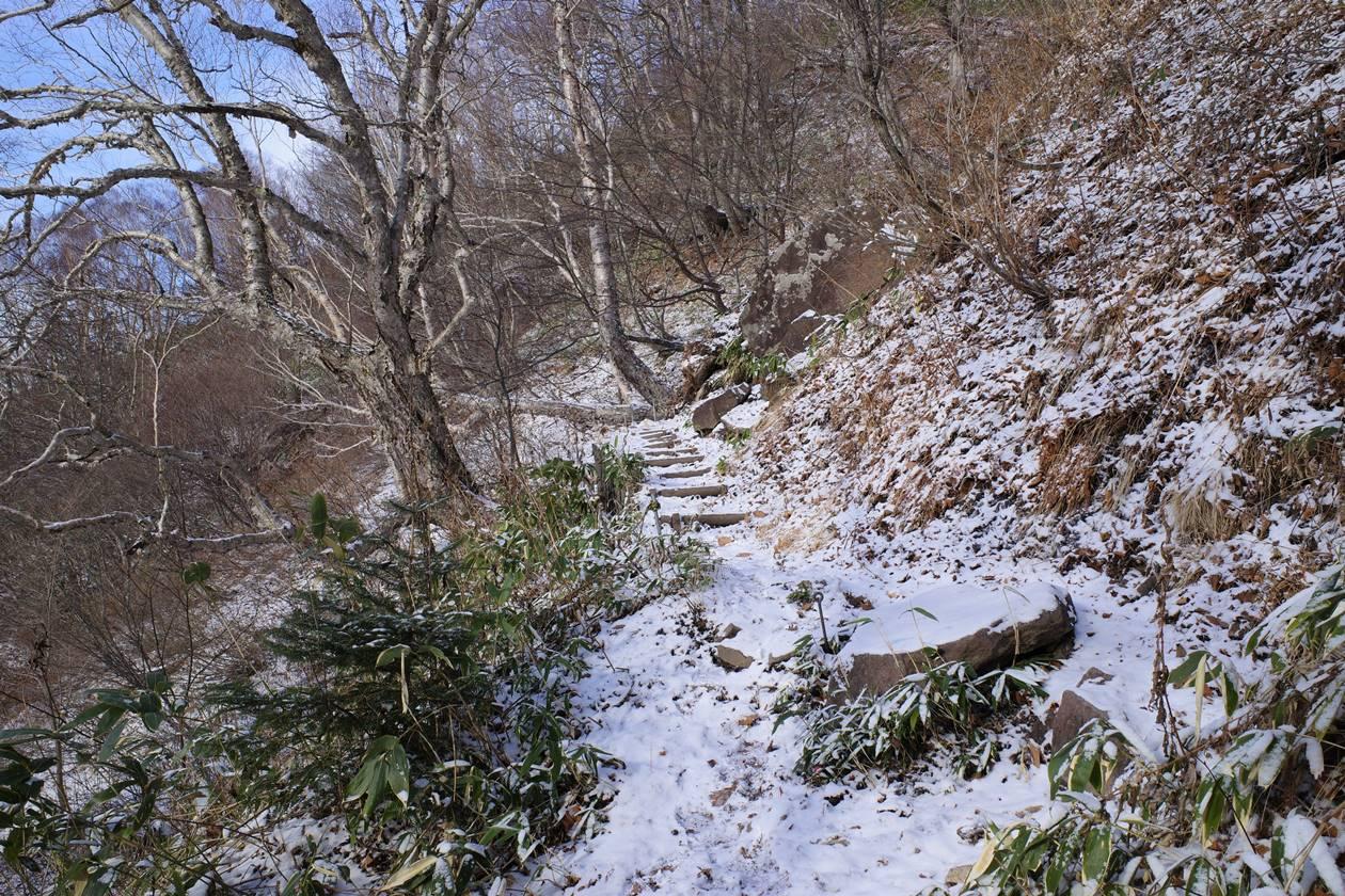 飯縄山南登山道
