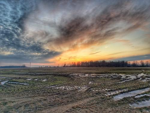 photo january field thaw ice sunset isabellacounty michigan
